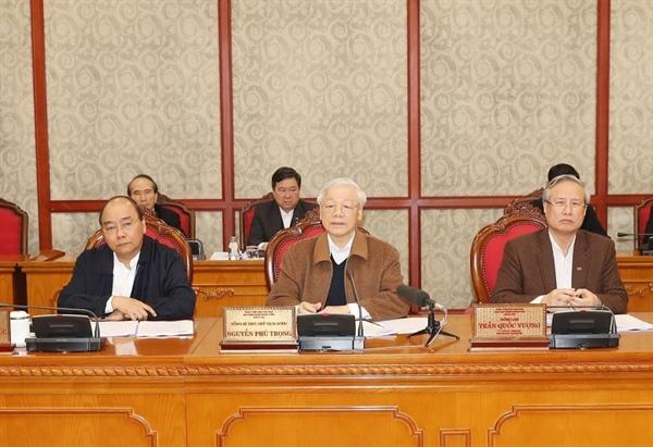 Hình ảnh: Thông báo kết luận của Bộ Chính trị về công tác phòng, chống dịch Covid-19 số 1