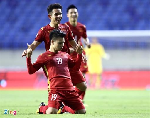 Quang Hải và các đồng đội đã có một trận thắng rất thuyết phục. Ảnh: Zing.vn